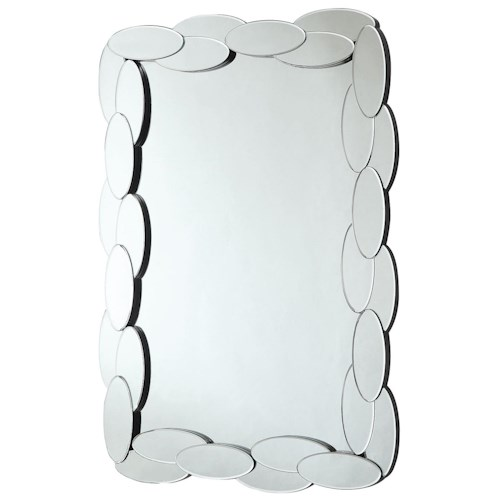 Coaster Accent Mirrors Rectangular Mirror with Mirrored Oval Frame