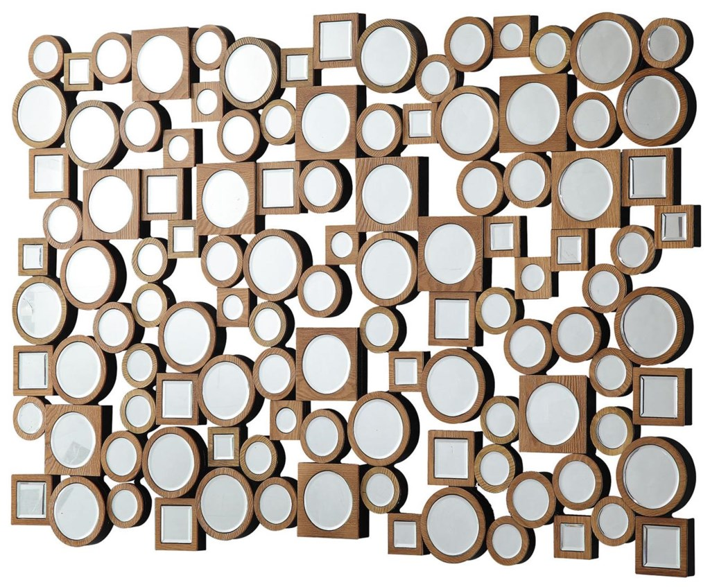 Accent Mirrors Collage Style Mirror With Round And Square Shapes By Coaster At Dunk Bright Furniture