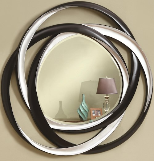 Coaster Accent Mirrors Two-Tone Contemporary Mirror