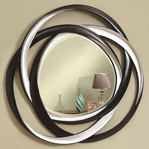 Coaster Accent Mirrors Two-Tone Contemporary Mirror