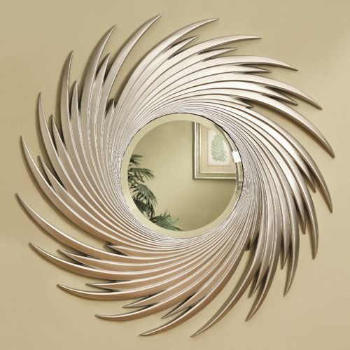 Coaster Accent Mirrors Round Spiral Mirror