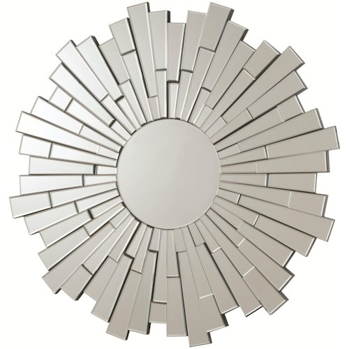 Coaster Accent Mirrors Contemporary Round Frameless Mirror