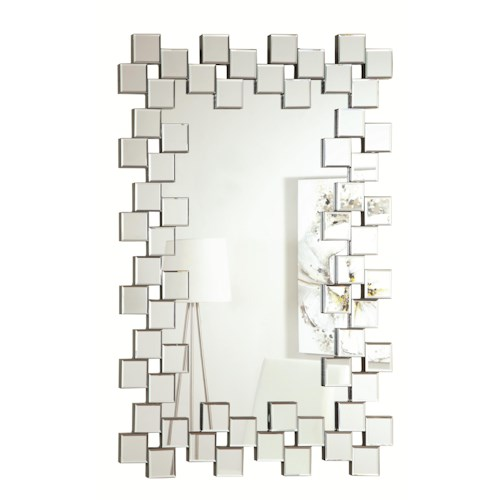 Coaster Accent Mirrors Frameless Contemporary Wall Mirror