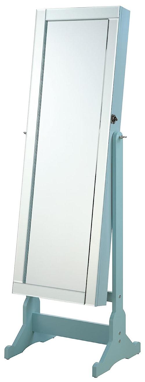 Coaster Accent Mirrors Jewelry Cheval Mirror with Interior Storage
