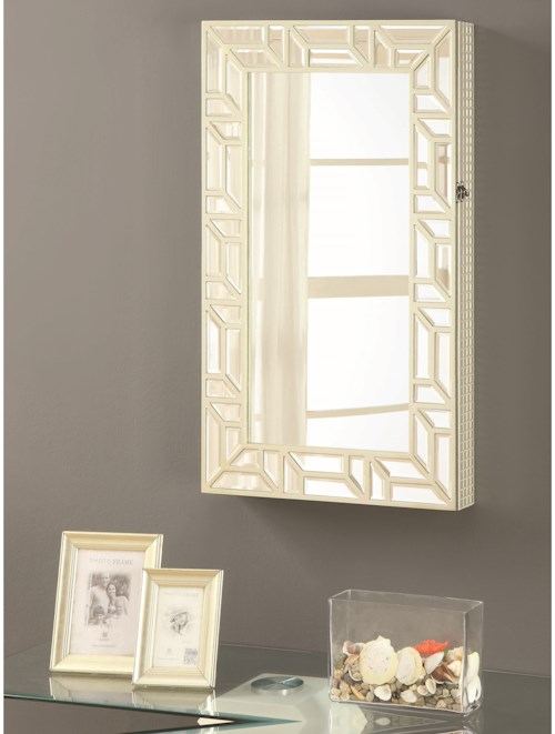 Coaster Accent Mirrors Wall Mounted Jewelry Armoire