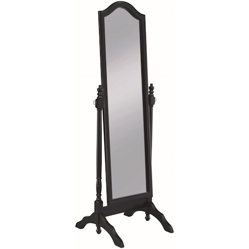 Coaster Accent Mirrors Cheval Mirror with Arched Top