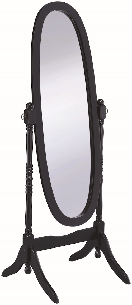Coaster Accent Mirrors Cheval Oval Mirror