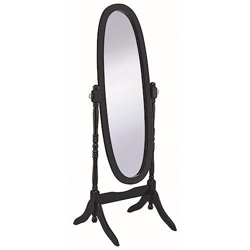 Coaster Accent Mirrors Cheval Oval Mirror | Aladdin Home Store ...