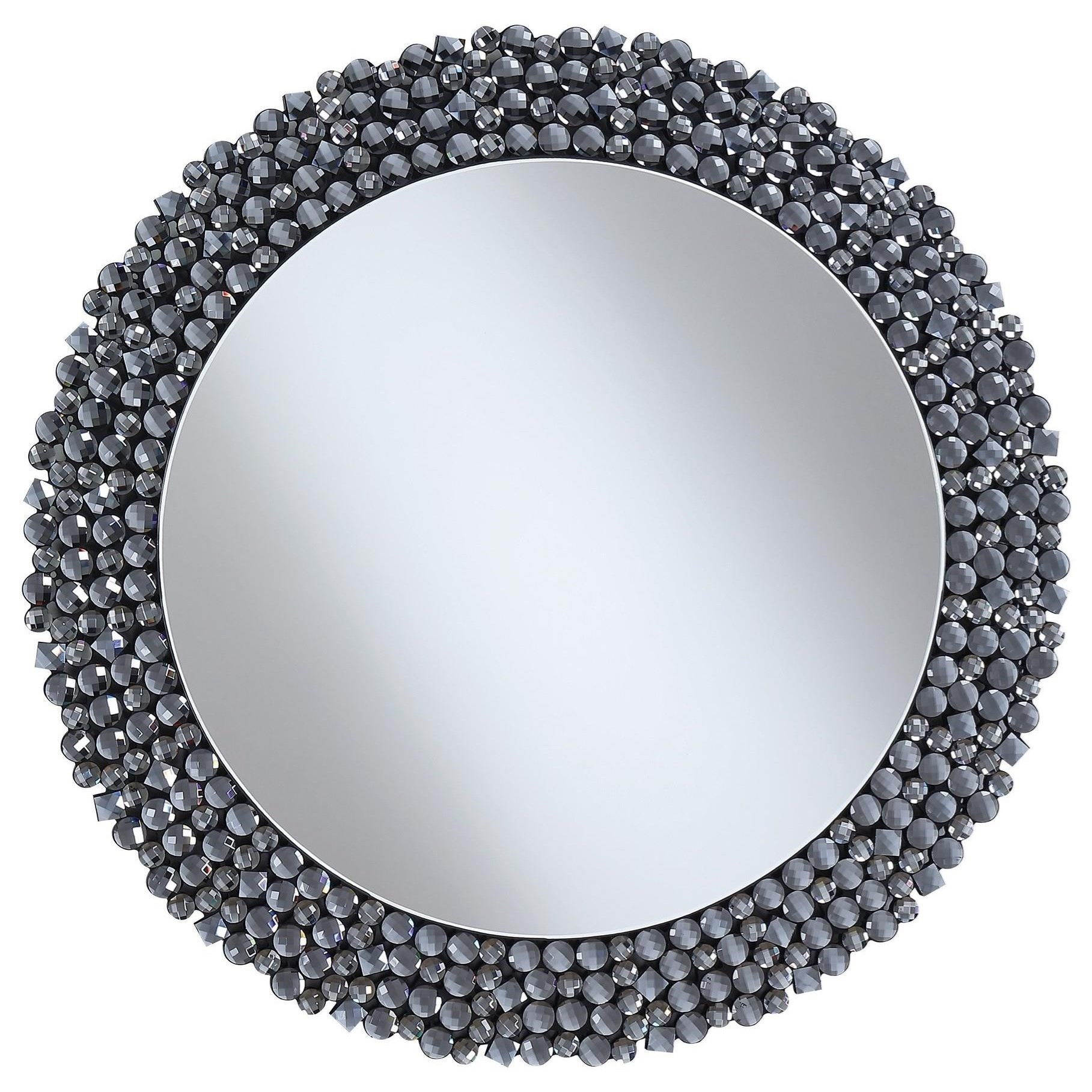 Accent Mirrors Round Contemporary Wall Mirror By Coaster At Rooms For Less