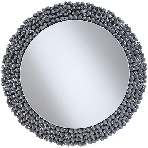 Coaster Accent Mirrors Round Contemporary Wall Mirror