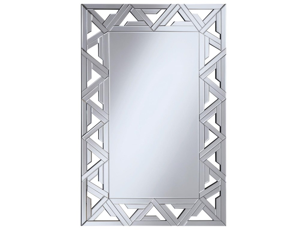 Coaster Accent Mirrors Geometric Wall Mirror with Mirrored Frame ...