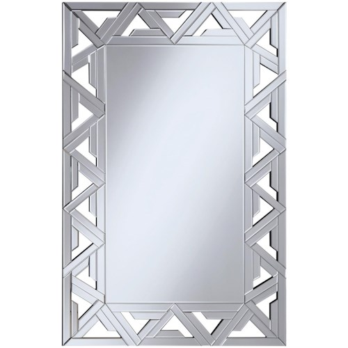Coaster Accent Mirrors Geometric Wall Mirror with Mirrored Frame