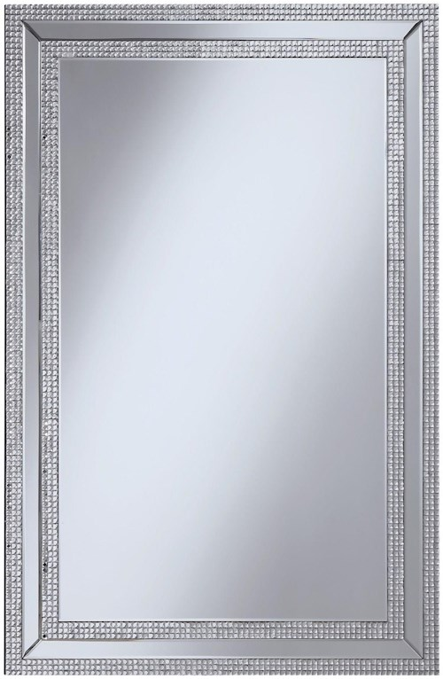 Coaster Accent Mirrors Wall Mirror with Jeweled Frame