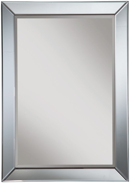 Coaster Accent Mirrors Contemporary Mirror with Blue Accent Trim