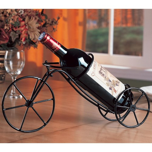 Coaster Accent Racks Black Bicycle Wine Rack