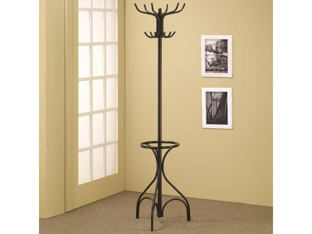 Coaster Accent RacksBlack Coat Rack