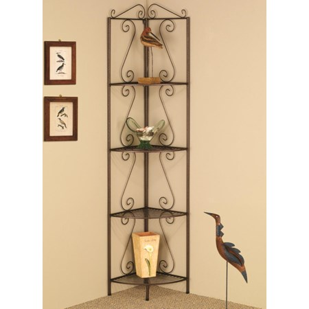 Copper Corner Shelf
