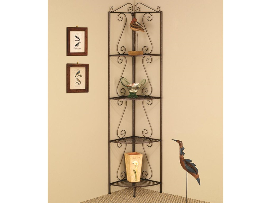 Coaster Accent RacksCopper Corner Shelf