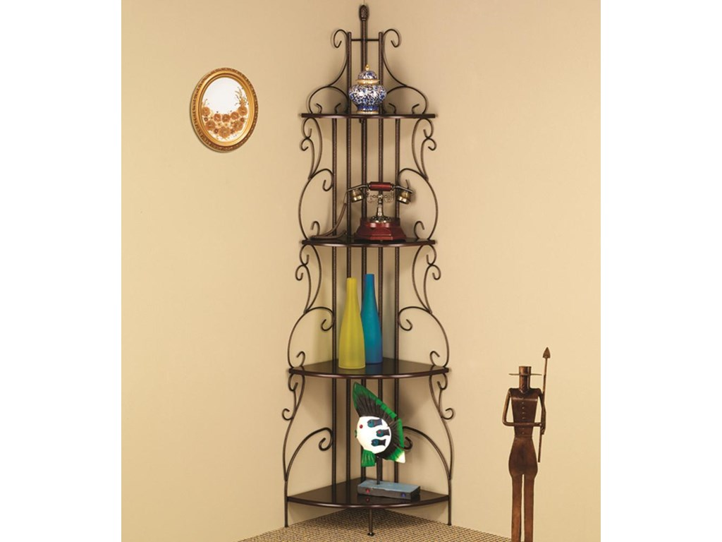 Coaster Accent RacksCopper Corner Rack