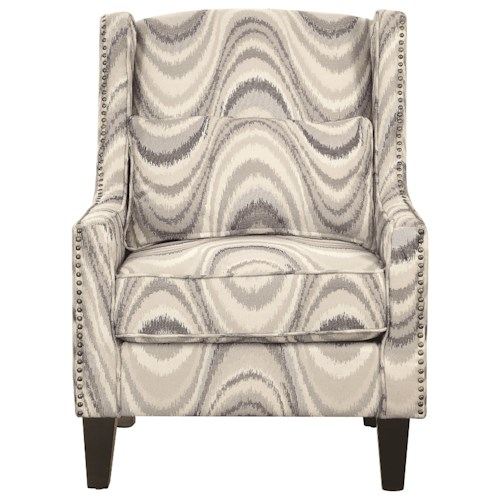 Coaster Accent Seating Upholstered Accent Chair with Nailhead Trim