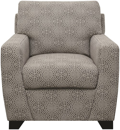 Coaster Accent Seating Grey Upholstered Accent Chair