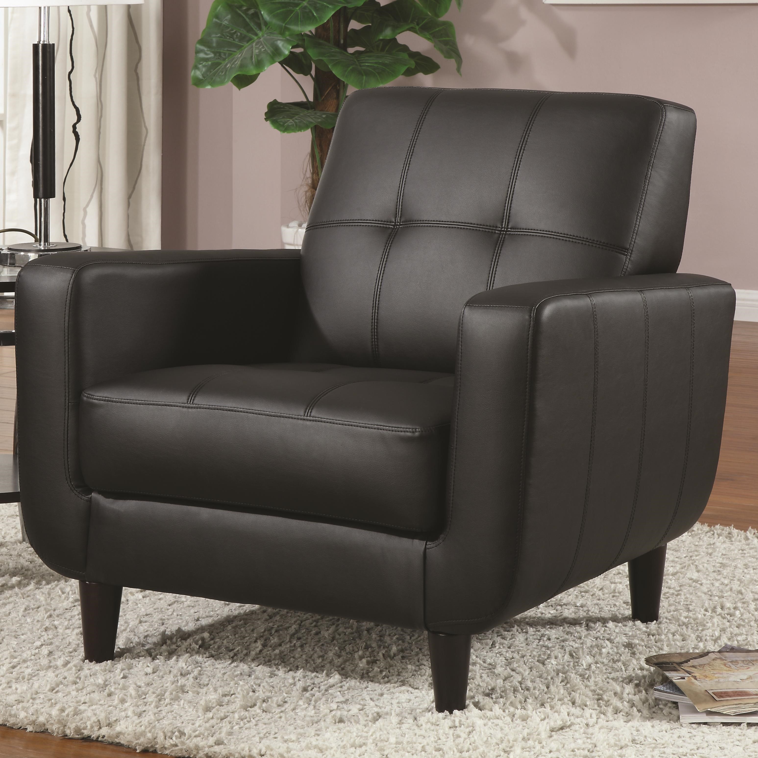 Coaster Accent Seating Accent Chair W/ Round Wood Legs