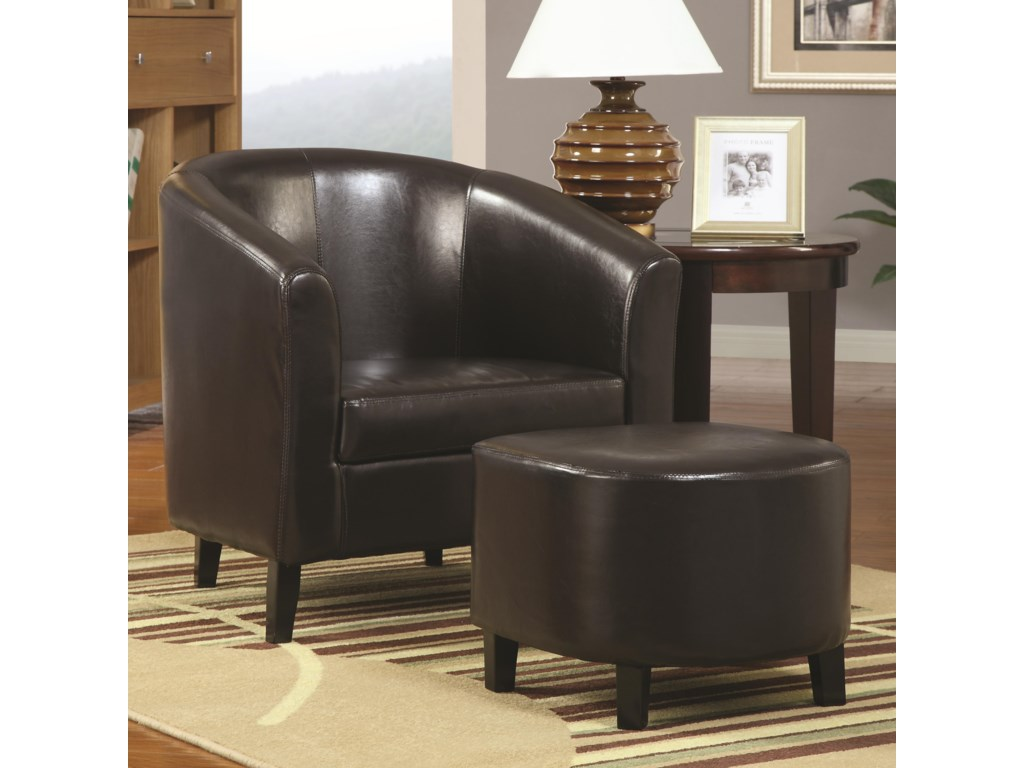 Coaster Accent SeatingAccent Chair and Ottoman