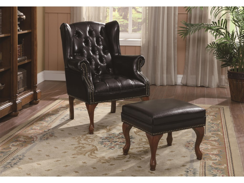 Coaster Accent SeatingChair and Ottoman