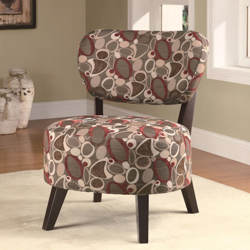 Coaster Accent Seating Accent Chair w/ Padded Seat