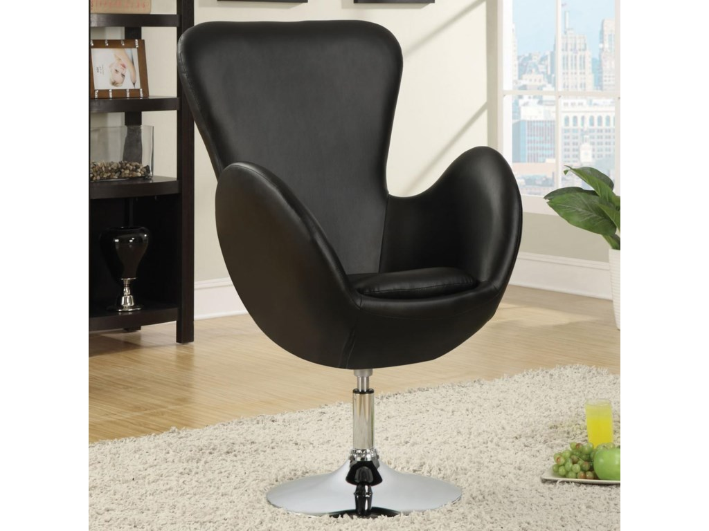 Coaster Accent SeatingLeisure Chair (Black)
