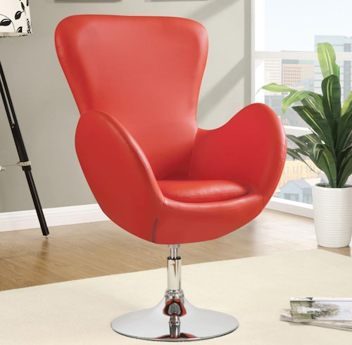 Coaster Accent Seating Swivel Leisure Chair