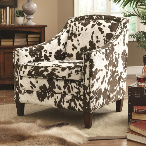 Coaster Accent Seating Cow Pattern Accent Chair