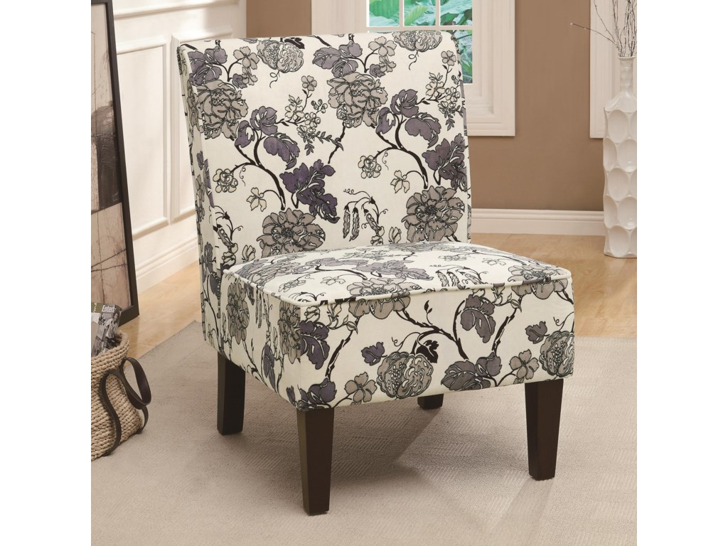 Floral Accent Chairs.Accent Seating Gray Floral Accent Chair By Fine Furniture At Del Sol Furniture