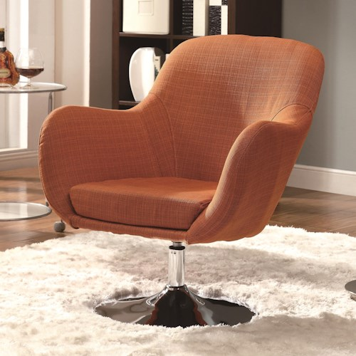 Coaster Accent Seating Retro Swivel Chair