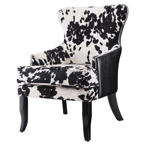 Coaster Accent Seating Cowhide Print/Leatherette Accent Chair