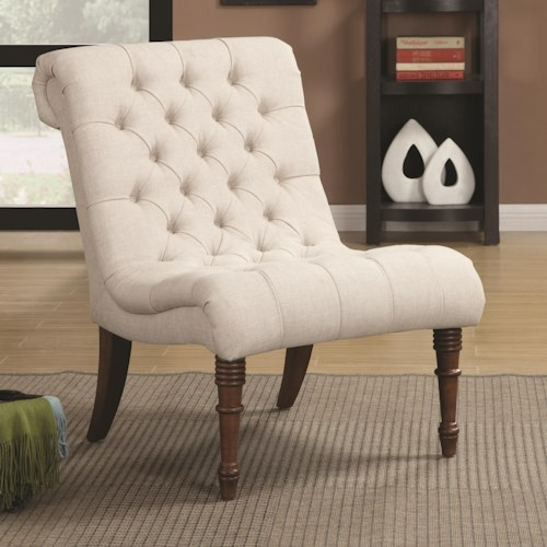 Coaster Accent Seating Curved Accent Chair