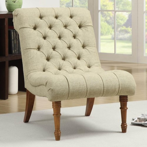 Coaster Accent Seating Tufted Accent Chair without Arms