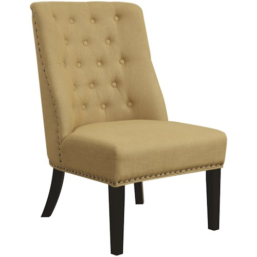 Coaster Accent Seating Accent Chair with Tufted Back