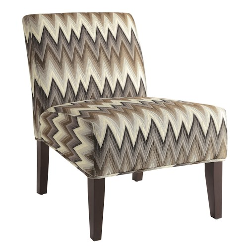 Coaster Accent Seating Upholstered Parsons Chair with Chevron Pattern