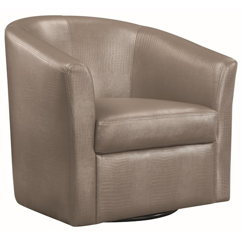 Coaster Accent Seating Contemporary Styled Accent Swivel Chair