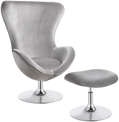 Coaster Accent Seating Contemporary Chair With Ottoman