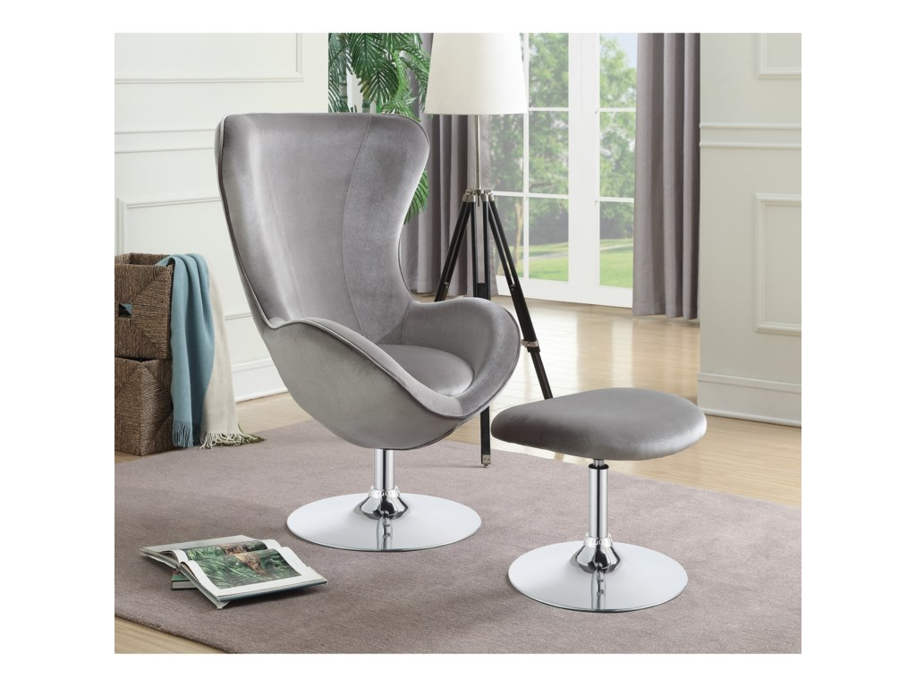 Coaster Accent SeatingChair With Ottoman