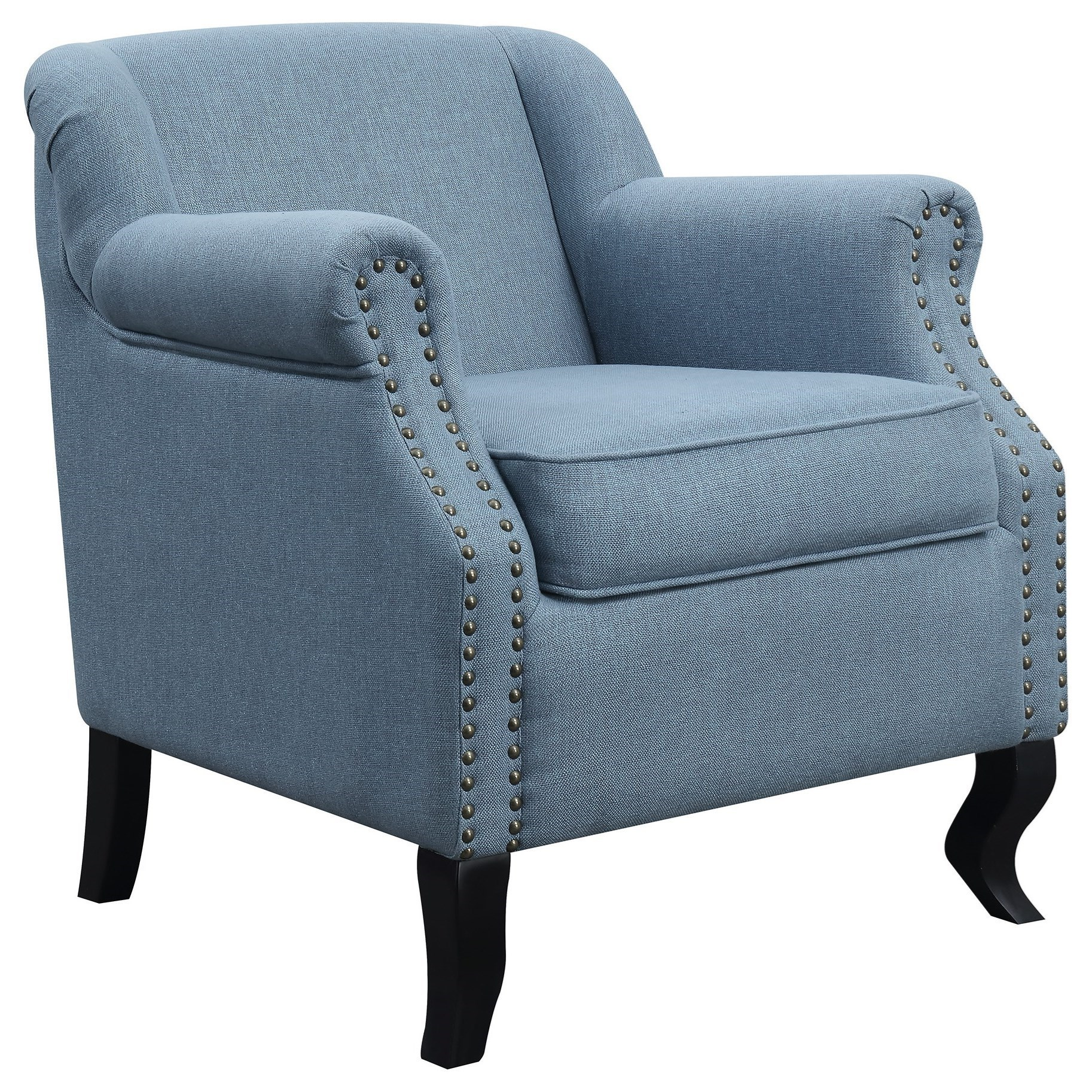 Ordinaire Coaster Accent Seating Traditional Accent Chair With Nailhead Trim
