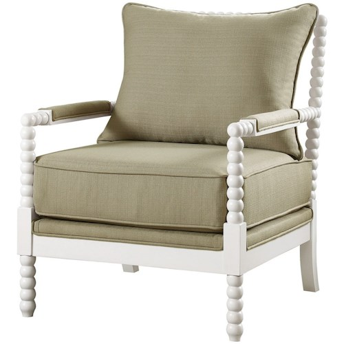 Coaster Accent Seating Accent Chair with Beaded Frame