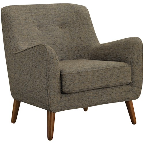 Coaster Accent Seating Mid-Century Modern Chair with Button Tufting