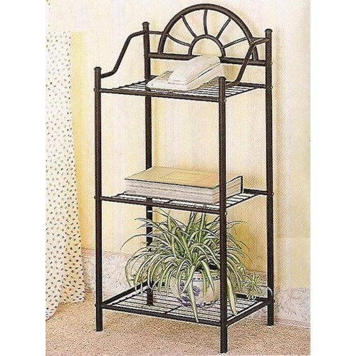 Coaster Accent Stands Sunburst Three Shelf Telephone Stand