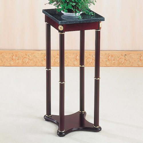 Coaster Accent Stands Green Marble Top Plant Stand