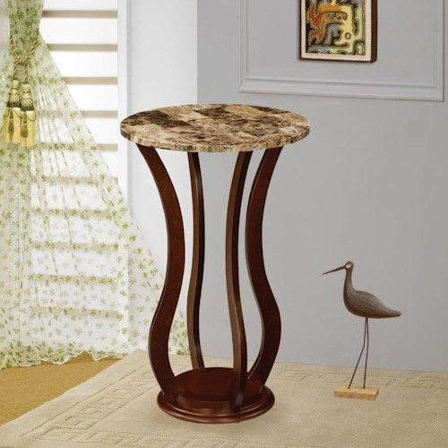 Coaster Accent Stands Round Marble Top Plant Stand