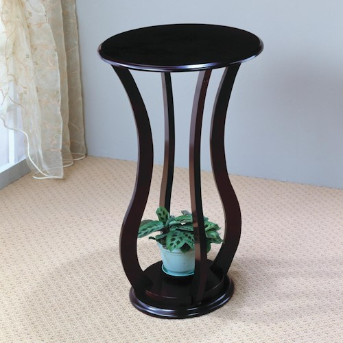 Coaster Accent Stands Round Plant Stand Table