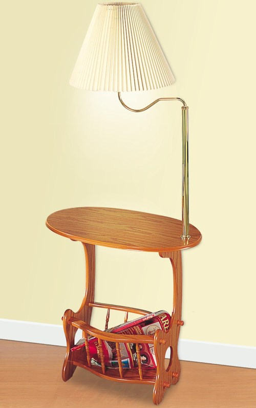 Coaster Accent Tables Magazine Storage Lamp Table